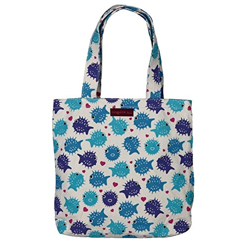 Bungalow 360 Reversible Tote (Puffer Fish)