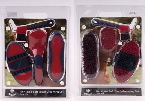 Rhinegold Soft Touch Horses Grooming Brush Set