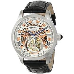 Ingersoll Men's IN5102SRG Golden Spike Tourbillon Analog Display Mechanical Hand Wind Black Watch