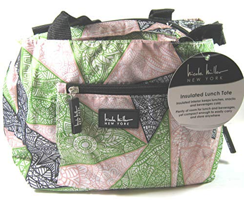 Nicole Miller of New York Insulated Geometric 11' Lunch Tote- Green