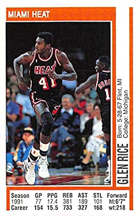 purchase cheap db0c0 690e8 Amazon.com: 1991-92 Panini Stickers Basketball #151 Glen ...