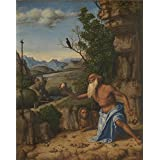 Canvas Prints Of Oil Painting 'Saint Jerome In A Landscape 1500-10, Giovanni Battista Cima Da Conegliano' 8 x 10 inch / 20 x 26 cm , Polyster Canvas, gifts for Foyer, Game Room And Kids Roo decoration