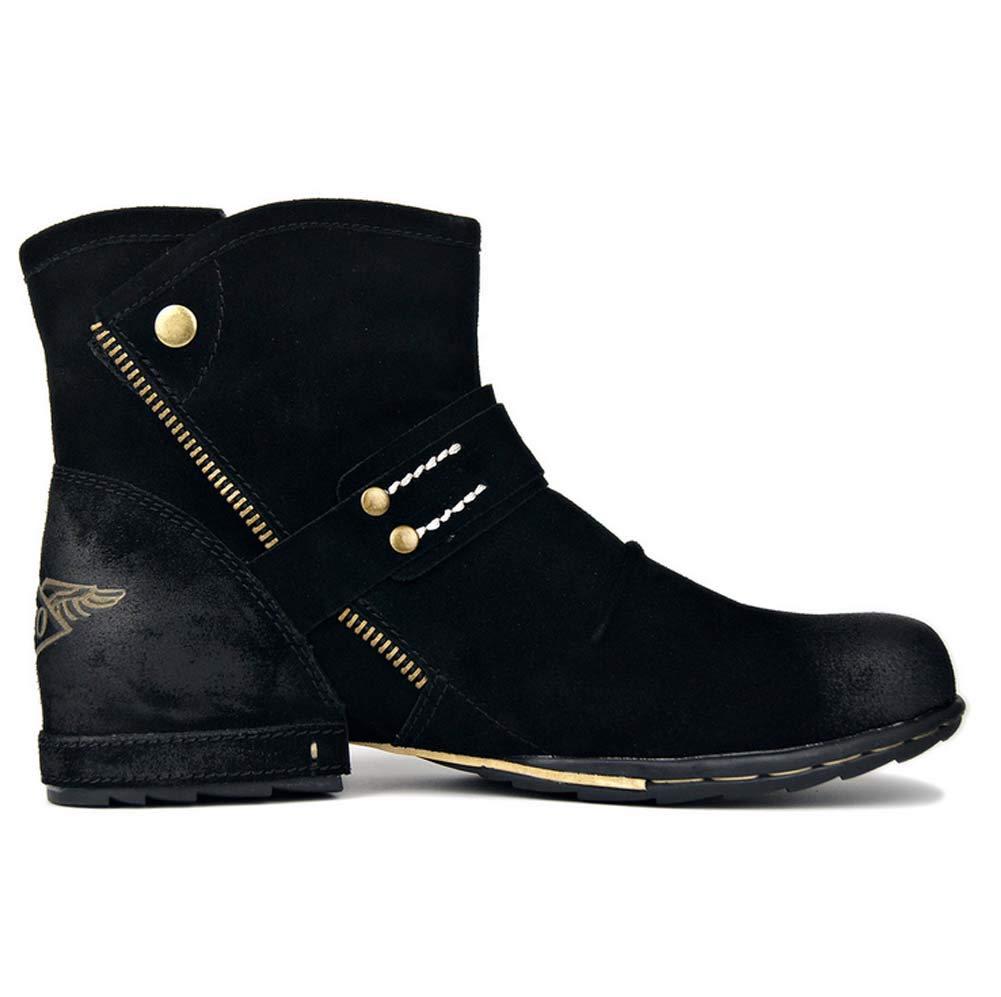 Herren Stiefel, Wildleder Wildleder Wildleder Westernspitze Stiefeletten Cowboy-Reitstiefeletten Slip-On-Stiefel Martin-Stiefel Größen 40-46 B07MXJD7P9  4d0f91