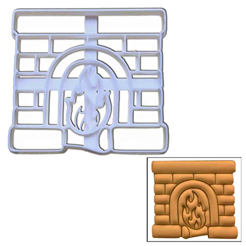 Fireplace cookie cutter, 1 pc, Ideal for Christmas party (Santa Down Cake Chimney Christmas)