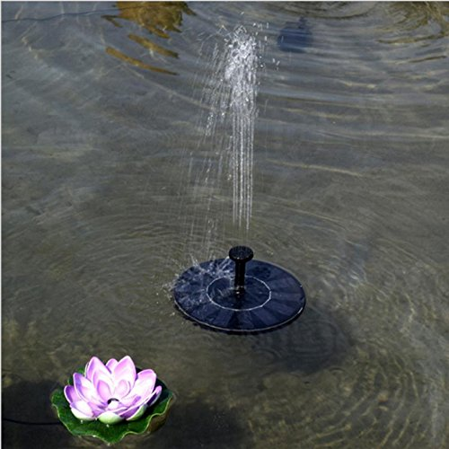Watering Kits - 7v Solar Water Pump Outdoor Floating Panel Powered Fountain Garden Plants Watering Power Pond Tank - Flower With Pots Battery Gardens For Timer