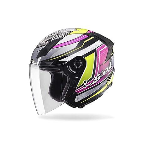 Cascos De Motocicleta Hombres Y Mujeres Cascos De Media Cuatro Pedales Seasons Motos Sombreros Duros CombinacióN