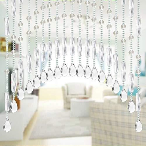 AKIMPE Crystal Glass Bead Curtain Luxury Living Room Bedroom Window Door Wedding Decor Colorful 2