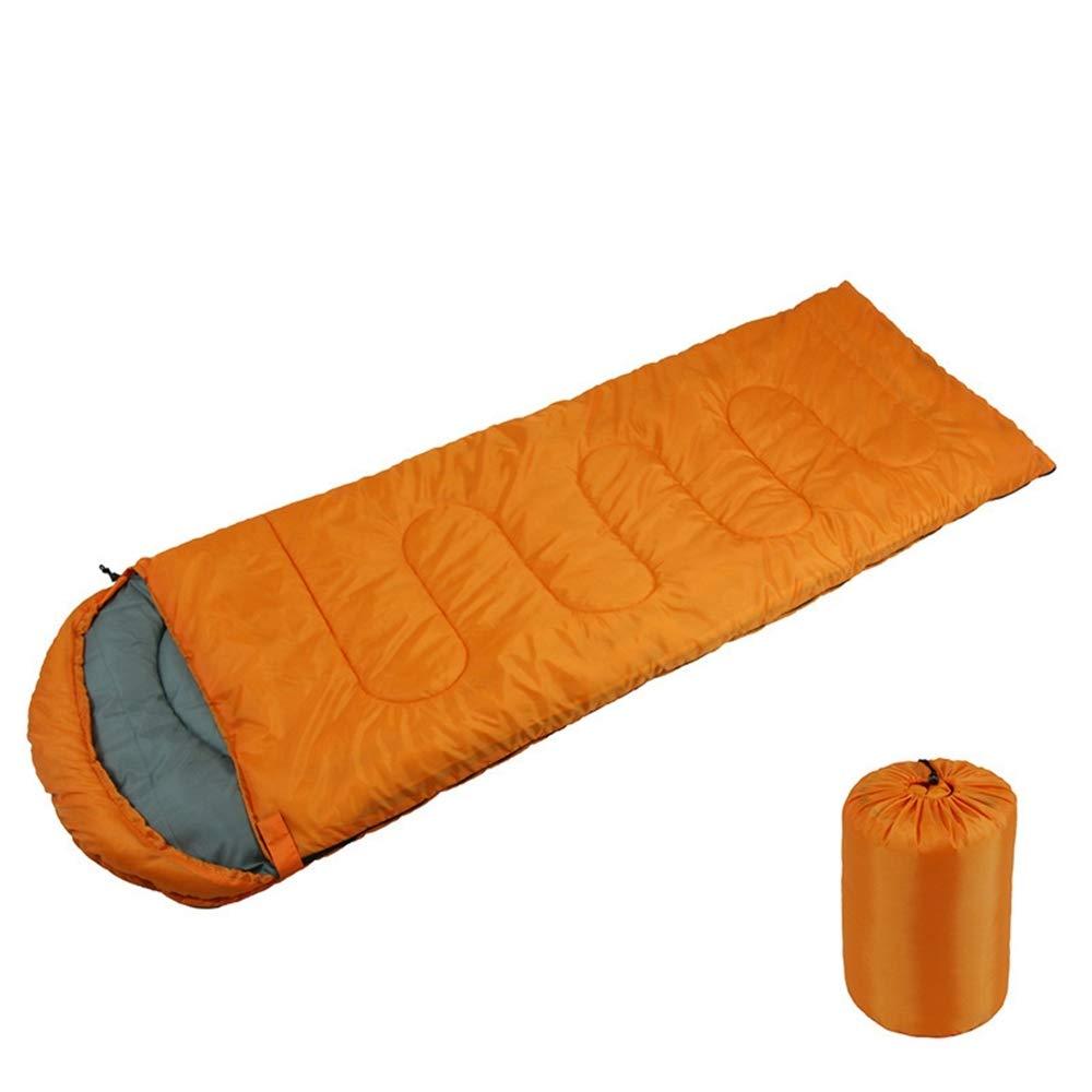 Orange  POOU Sac de Couchage de Camping en Plein air équipeHommest d'alpinisme Sac de Couchage Chaud et portatif Convient pour Les activités de Voyage, de Camping et de Plein air 1600g