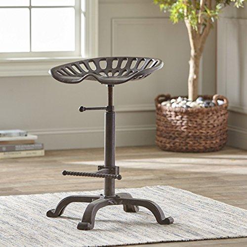 Cheap Belleze Industial Adjustable Swivel Tractor Seat Chair Bar Stool Height Indoor Outdoor Barstool