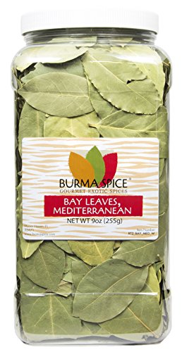 Mediterranean Bay Leaves : Laurel Leaf : Dried Herb Kosher (9oz.) by Burma Spice (Image #3)