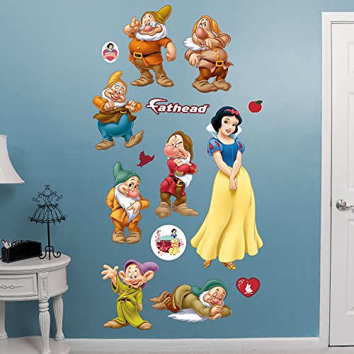 FATHEAD Snow White and 7 Dwarfs: Collection-X-Large Officially Licensed Disney Removable Wall Decal ()