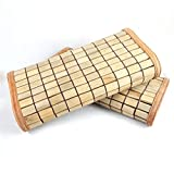 XL-US-Large red mahogany gold nanometer wood mahjong pillow wood health pillow crafts gifts Decoration (length 35cm width 18cm high 8cm) , a pair of