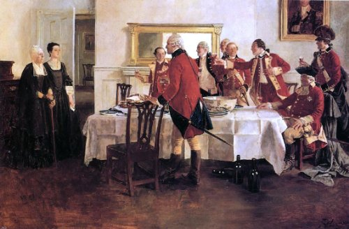 Howard Pyle Red Coat Soldiers Toasting the Ladies of the House - 18.05