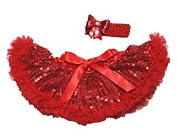 Valentine\'s Day Hot Red Sequin Dress Newborn Baby Skirt Tutu Girl Clothing 3-12m