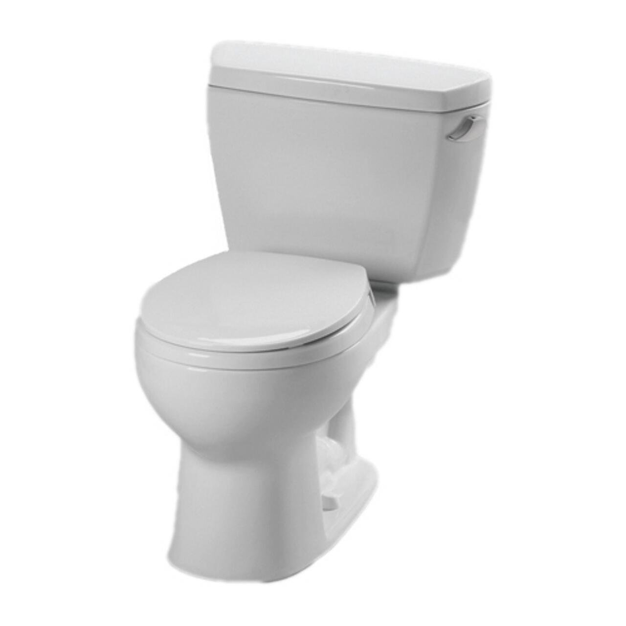 Toto CST743ERBNo.01 Eco Drake Toilet-1.28-GPF R with Right Hand Trip Lever and Boltdown Tank Lid In Cotton