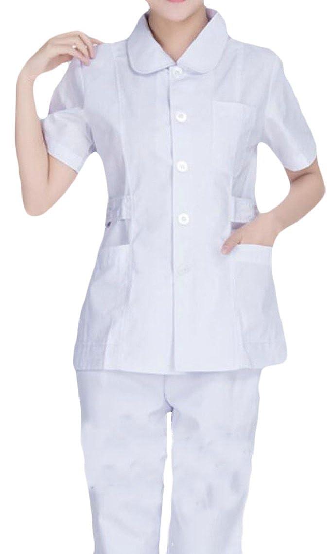 f29cee244e4 Amazon.com: Yayu Womens Long Sleeve Scrub Sets Medical Scrubs: Clothing