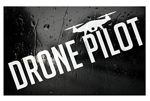 Drone Pilot Decal _ HQ BlackListed DJI style Die Cut Vinyl Sticker (Pilot Decal)