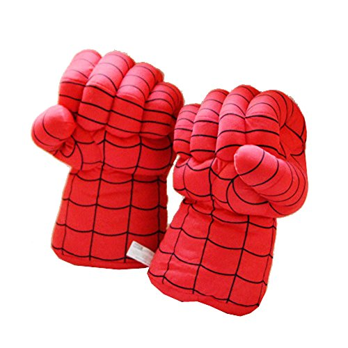 XCOSER Super Hero Plush Boxing Gloves Toys for Halloween Gift Spider B (Fancy Dress Boxing Gloves)
