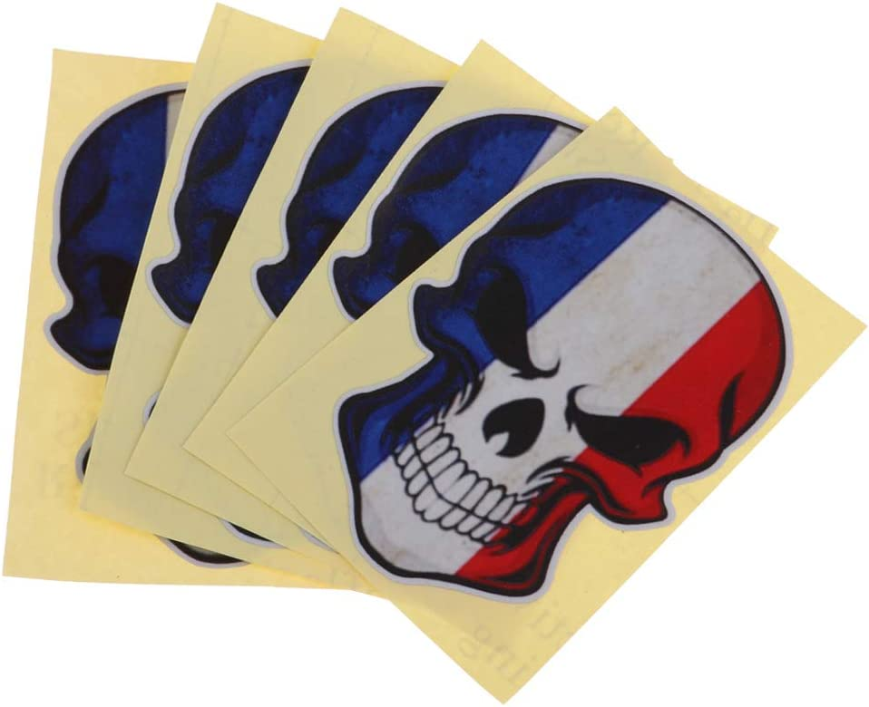 B Baosity 5pcs//pack Swimming Fin Flippers Sticker Waterproof Decal Skull Sticker for Scuba Diving Gear Boat Motorcycle Car and Luggage