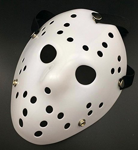 Gmasking Friday The 13th Horror Hockey Jason Vs. Freddy Mask Halloween Costume Prop (White) (Hockey Mask Halloween Costume)