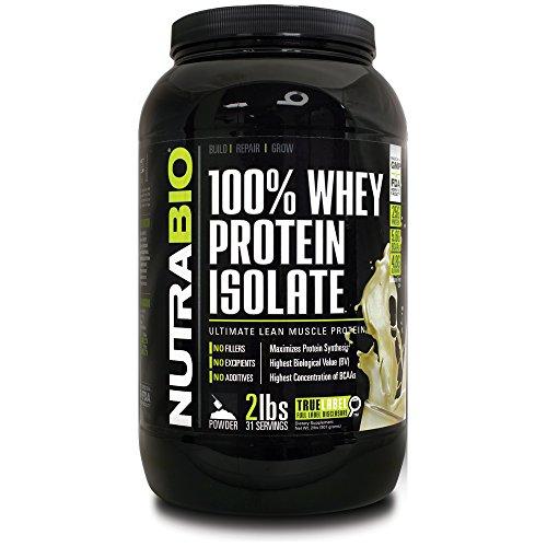 NutraBio 100% Whey Protein Isolate - £ 2 Vanilla - sans soja, concentré de lactosérum NO, NO acides aminés Smasher seulement 100% Pure WPI.