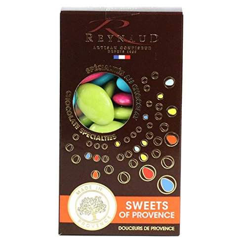 Dragee Reynaud, 70% Dark Chocolate Pieces, Assorted Colors,