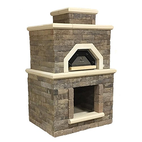 54.5 in. x 44 in. x 94.38 in. Concrete Avondale Outdoor Brick Oven by Oldcastle