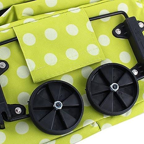 Patrón eDealMax poliéster de Punto de Hogares plegables reutilizables del totalizador de las compras bolso de la carretilla: Amazon.com: Industrial & ...