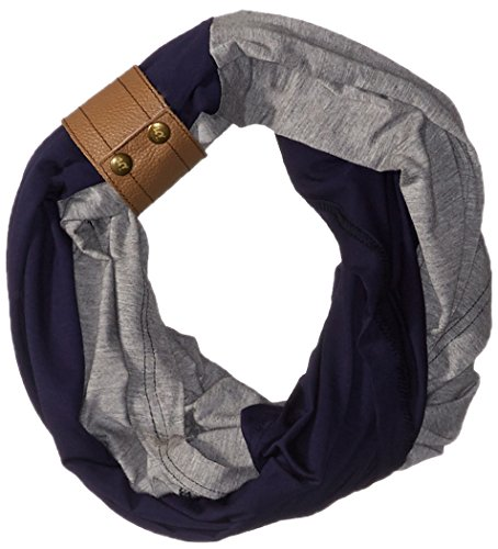 Itzy Ritzy Breastfeeding Cover and Infinity Nursing Scarf  Nursing Cover Can Be Worn as a Scarf and Provides Full Coverage While Nursing Baby; Includes Leather Cuff, Navy