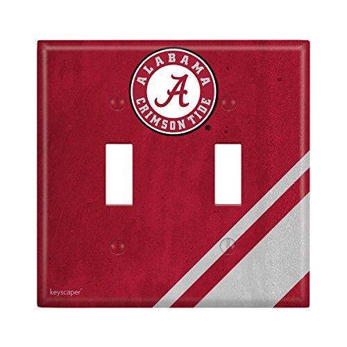 Alabama Light Switch Cover (Alabama Crimson Tide Double Toggle Light Switch Cover NCAA)