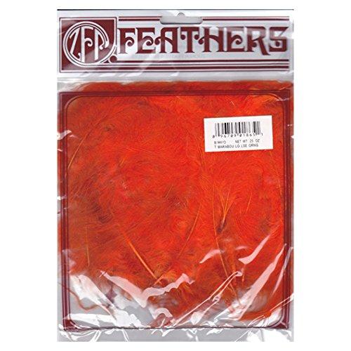 Zucker Feather (TM) - Loose Turkey Marabou Dyed - Orange