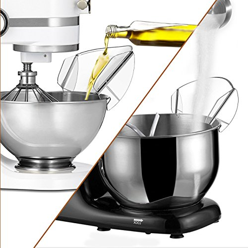 Pouring Shield, JOYMOOD Universal Pouring Chute for KitchenAid Bowl-Lift Stand Mixer Attachment/Accessories by JOYMOOD (Image #3)