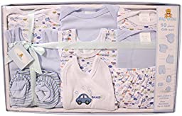 Big Oshi Baby 10 Piece Layette Gift Set, Blue, 0-3 Months