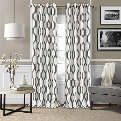 - Elrene Home Fashions 026865901245  Room Darkening Grommet Linen Window Curtain Drape Panel, 52