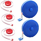 5pcs 1.5m/60' Retractable Tape Measure, Fitness-and-Activity-Monitors Measure Tape, cm/inch Soft Feet Ruler for Sewing Clothing Body Height Measurement Tailor Craft Dieting Waist Bust Soft Feet Tape-