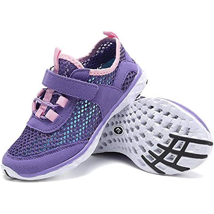 FANTURE Boys & Girls Water Shoes Aqua Swim Shoes Athletic Sneakers Lightweight Sport Quick Dry Kids Walking Shoes (Toddler/Little Kids/Big Kids)