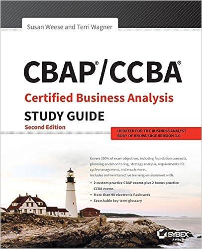 Amazon.com: CBAP / CCBA Certified Business Analysis Study Guide ...