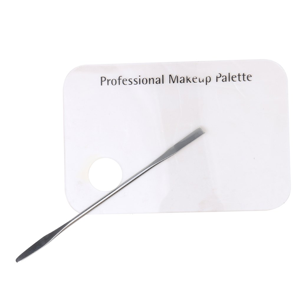 MagiDeal Acrylic Palette Spatula Makeup Palette Cosmetic Nail Art Polish Mixing Tool Kit 55014434