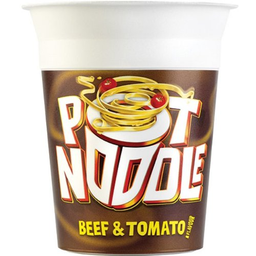 Beef Tomato Sauce - Pot Noodle Beef & Tomato 12 x 90g