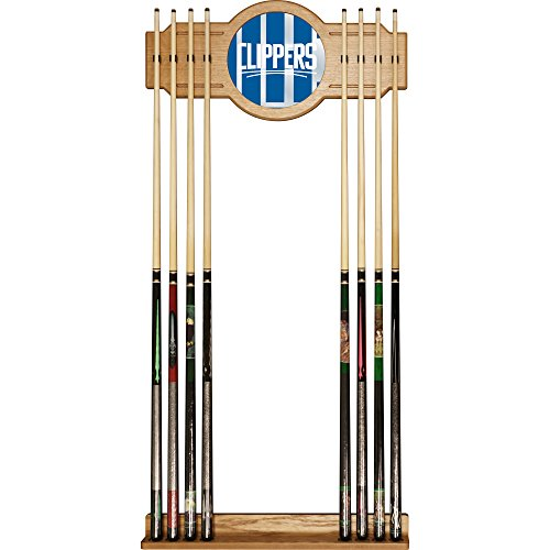 Trademark Gameroom NBA6000-LAC2 NBA Cue Rack with Mirror - Fade - Los Angeles Clippers by Trademark Global
