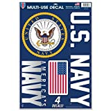 WinCraft United States Military U.S. Navy Multi-Use Decal Sheet, Multicolor, One Size