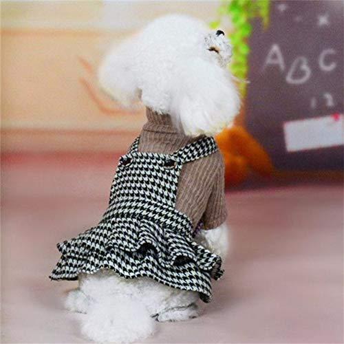 Jim-Hugh Clothes Dress Spring Autumn Winter Clothing Puppy Skirt Princess Dresses Small Dog Costume Female Pet Apparel -
