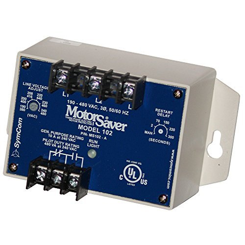Model 102A2 SymCom MotorSaver 3-Phase Voltage Monitor 190-480V Variable Restart Delay
