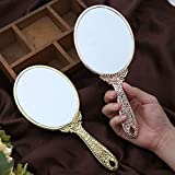 Handheld Mirror with Handle, for Vanity Makeup Home Salon Travel Use
