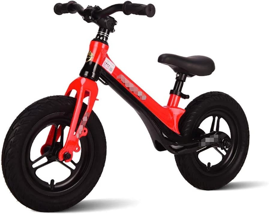 WENJUN Bicicleta Sin Pedales, Classic Lightweight No-Pedal Learn To Ride Pre Bike, Bicicleta De Entrenamiento Deportivo Sin Pedal para Niños De 2 A 6 Años, 4 Colores ( Color : Rojo )