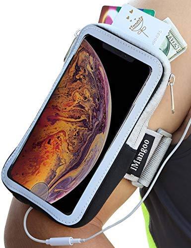 66eaabf811 Fascia da braccio per iPhone Xs Sports, iMangoo Running Jogging Fascia da  braccio per touchscreen protettiva sportiva per Apple iPhone X iPhone Xs  Max ...