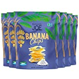 Cheap Banana Chips, Healthy Vegan Snacks for Kids & Adults, Gluten-Free Prebiotic & Prebiotic Snacks, 1.65oz (6-Count), Sea Salt Flavored Fruit Crisps, 100% Real Bananas, Yummy & Tasty Guilt-Free Snack