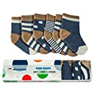 Tiny Captain Boys Baby Socks ( 6 PACK) For Babies, Infants, and Toddlers 0-6 Months (Navy Blue)