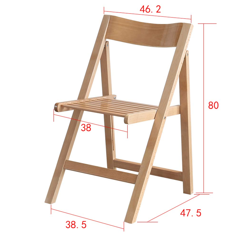Amazon.com: Sillas plegables, silla plegable de madera ...