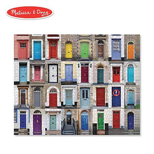 Best Jigsaw Puzzle - Melissa & Doug Knock Knock Cardboard Jigsaw Puzzle (Durable Cardboard, for Kids 12 and Up, 1,000 Pieces, 29